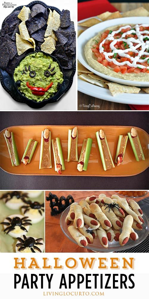 15 Spooky and Fun Halloween Party Appetizer Recipes! LivingLocurto.com