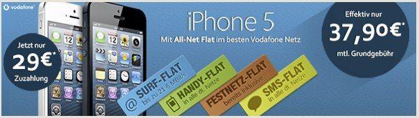 Original Vodafone Red M - Allnet-Flat mit 1GB (21,6Mbit/s) sehr günstig in Kombination mit iPhone 5 für junge Leute *UPDATE3* - myDealZ.de