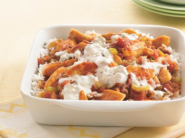 Buffalo Chicken Casserole - not a recipe I can eat but my daughter and granddaughter would love it.