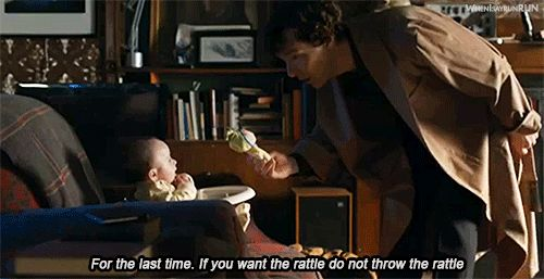 This is how I choose to imagine Benedict Cumberbatch talking to his own child!