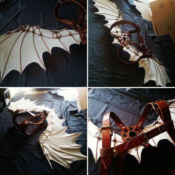 Da Vinci Ornithopter vleugels Steampunk kostuum door WithencroftCo