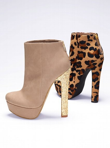 Platform Bootie - Colin Stuart - Victoria's Secret.. I like the Nude/Glitter and the Leopard ones. $148, and $108