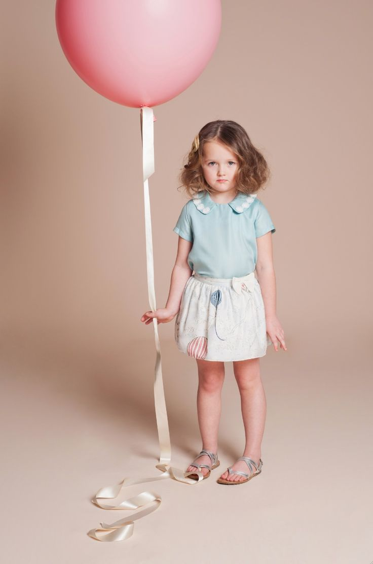 Lace decorated collars at Hucklebones kidswear for summer 2014