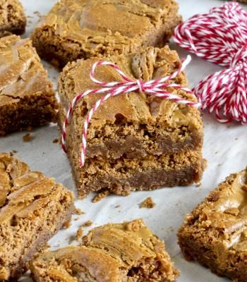 Fudgy Biscoff Swirl Brownies (image: #1)