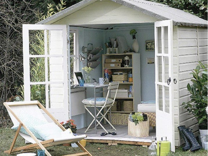 17 best images about shabby chic office shed ideas on for Garden house office