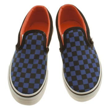 Boys Black & Navy Vans Classic Slip Junior Trainers | schuh £27