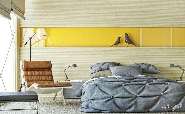 Яркий желтый акцент в современной спальне   #желтый #современныйстиль #спальня Ещё фото http://iqpic.ru/%d1%8f%d1%80%d0%ba%d0%b8%d0%b9-%d0%b6%d0%b5%d0%bb%d1%82%d1%8b%d0%b9-%d0%b0%d0%ba%d1%86%d0%b5%d0%bd%d1%82-%d0%b2-%d1%81%d0%be%d0%b2%d1%80%d0%b5%d0%bc%d0%b5%d0%bd%d0%bd%d0%be%d0%b9-%d1%81%d0%bf%d0%b0