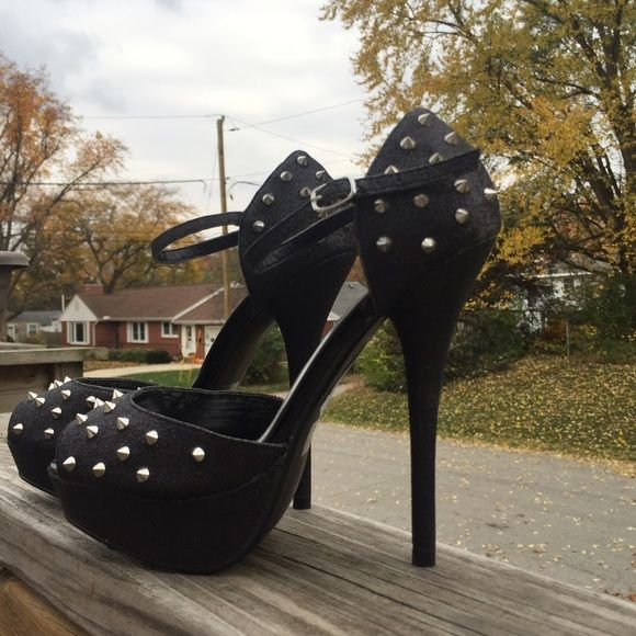 Rue 21 Spiked Heels  Hot!  Hot!  Hot!  NWOT Never worn. Display item. Rue 21 Shoes Heels