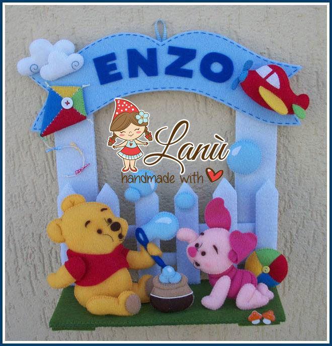 Annuncio fiocco nascita Winnie the Pooh e Pimpi, by Lanù, 40,00 € su misshobby.com
