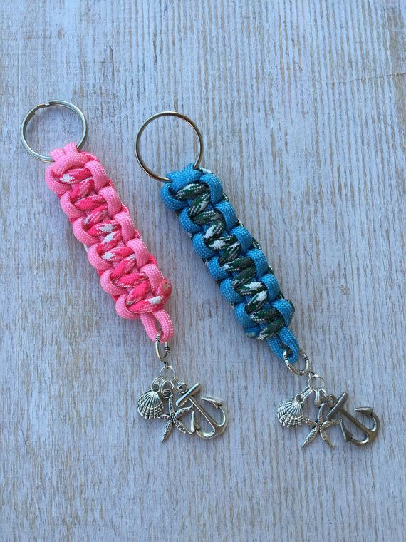 Paracord keychain with nautical charms by upyouranchor on for Paracord keychain projects