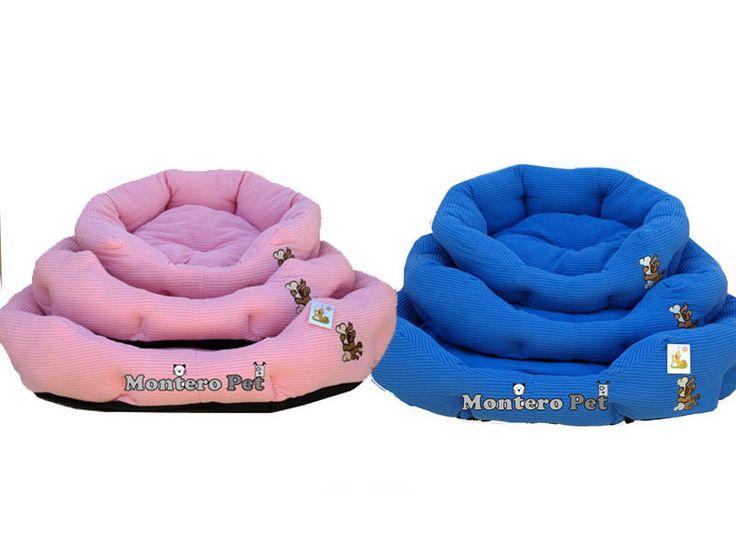 Set de 3 camas para perros ideal para los más sensibles al frío pues su tejido de pana hace que de esta cama un lugar cálido y acogedor para su mascota.