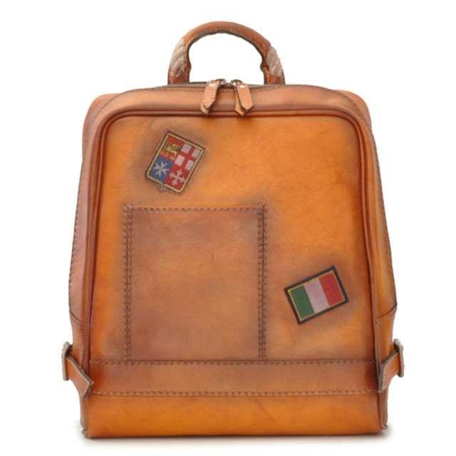 Pratesi プラテージ イタリア製 本革 バッグ リュック バックパック