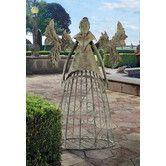 Found it at Wayfair - Tempest the Metal Garden Trellis Fairy