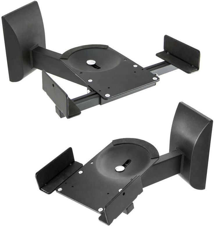 Dual Pair Adjustable Wall Mounting Speaker Mounts Clamp Style w/ Tilt & Swivel #VIVO