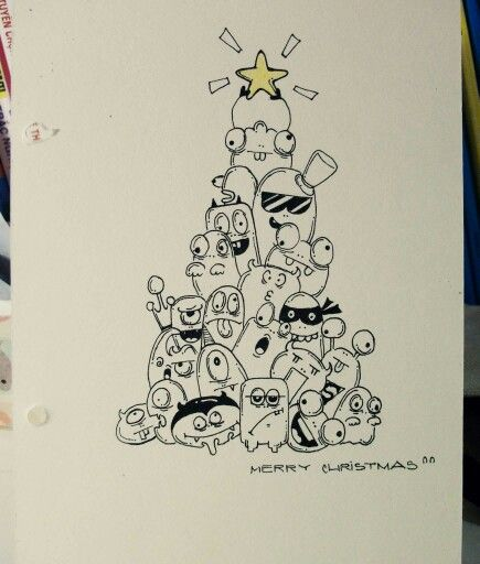 #monster#doodle#christmas#