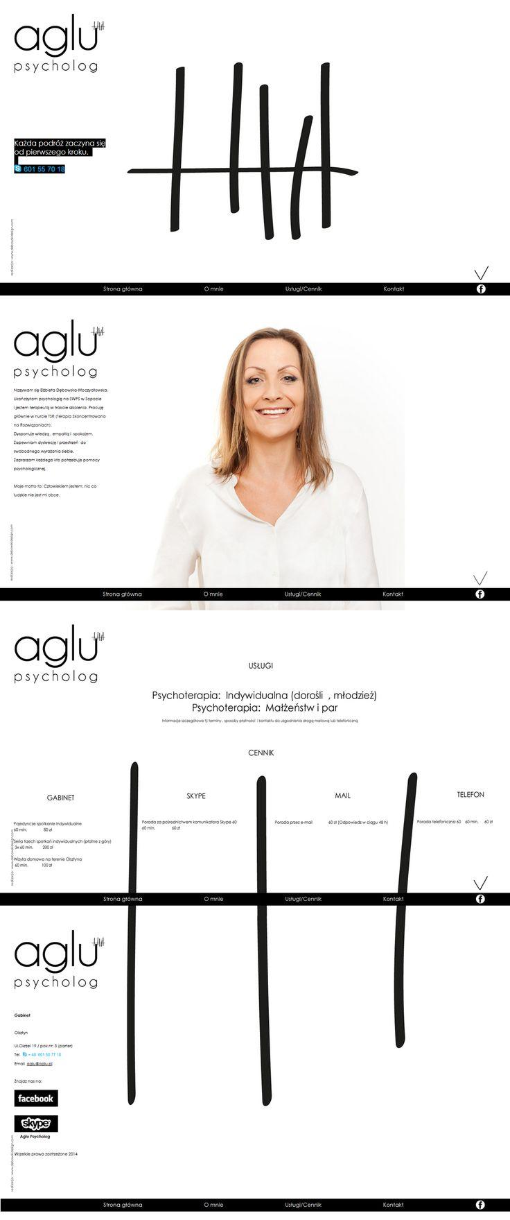 Web design I AGLU Psychologist I  Debowski Design www.debowskidesign.com