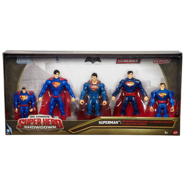 DC Superhero Showdown Superman Action Figure 5-Pack [Ultimate Collection]