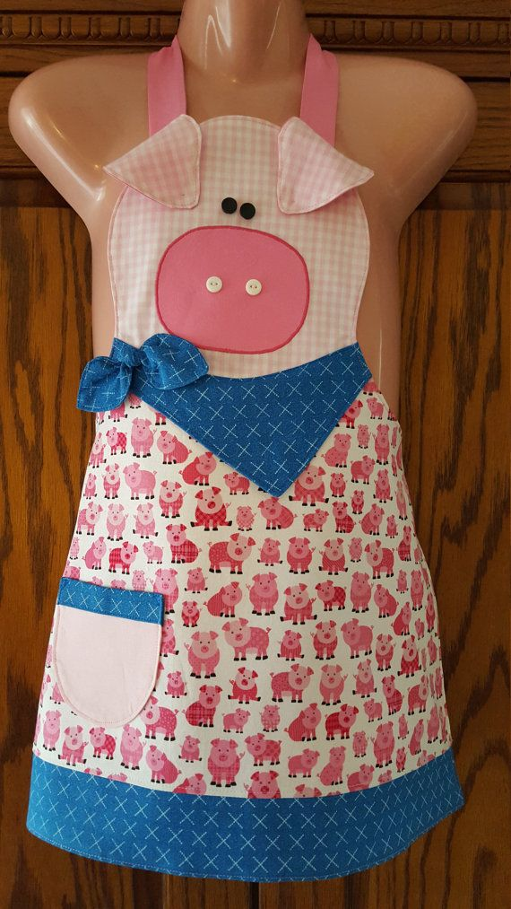 Check out this item in my Etsy shop https://www.etsy.com/listing/270523251/childs-pig-apronfarm-friends