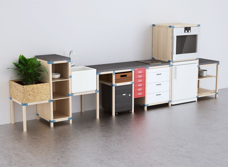 The Kitchen Concept Bridges The Gap Between The Hacking Trend And Modular  Systems Of Today.