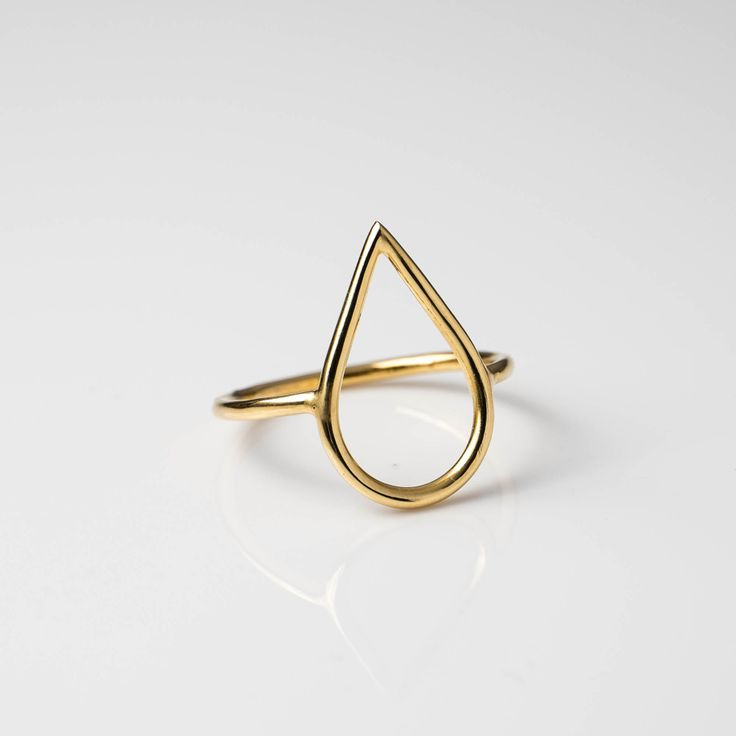 Drop Ring - Gold Plated Available in different size on www.maria-pascual.com