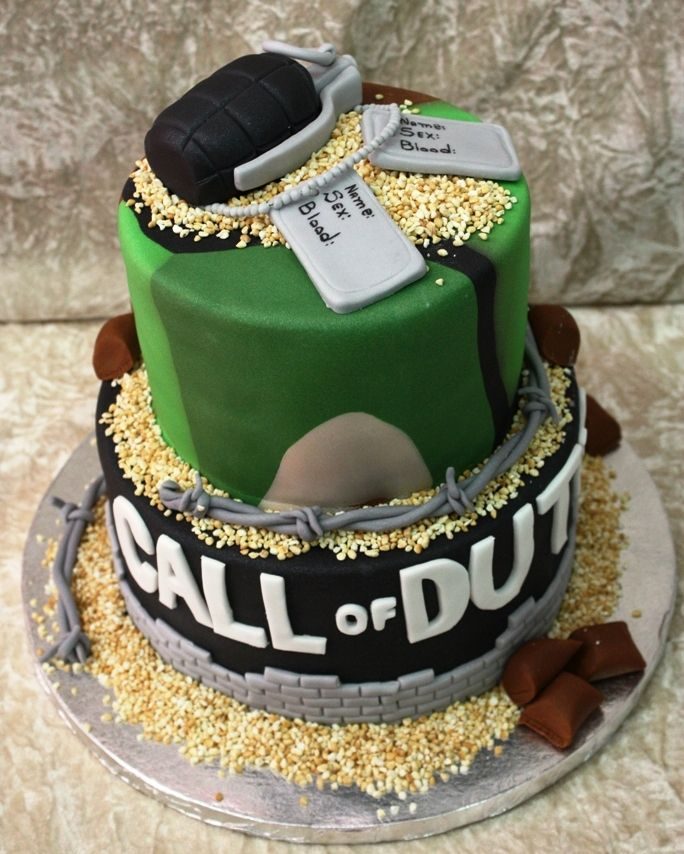 62 Best Call Of Duty Birthday Cake's Images On Pinterest