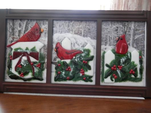 Cardinals at Christmastime by LadyJan