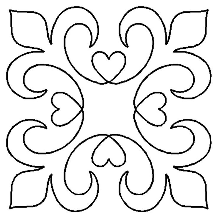 Quilt Stencil Elegance By Walner, Hari  - 11in Elegance Block continuous line stencil. Stencil is made of Mylar plastic with the displayed design cut into it. New size of stencils HW53, HW54 & HW55.