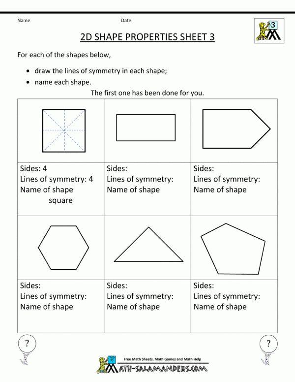 11+ 3 Grade Worksheet Polygon - Grade | Geometry ...