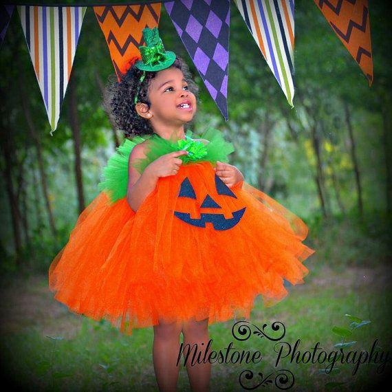 Pumpkin Tutu Dress, Jack O Lantern Dress, Infant Toddler Pumpkin Costume, Baby Halloween Costume, Pumpkin Costume