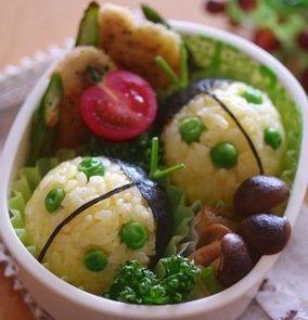 お弁当:黄色てんとう虫のおにぎりの作り方|レシピブログ