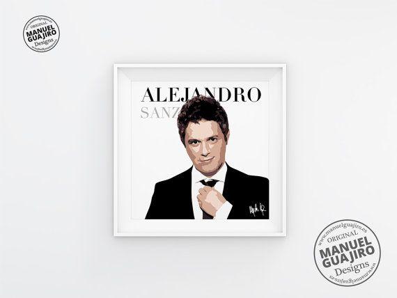 Alejandro Sanz  Póster minimalista póster de música póster