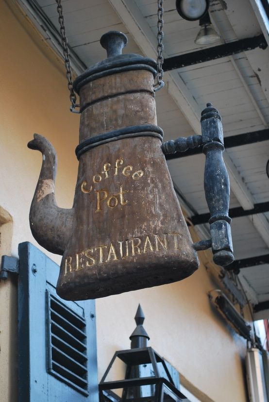 Coffee Pot sign at a restaurant in New Orleans, Louisiana.