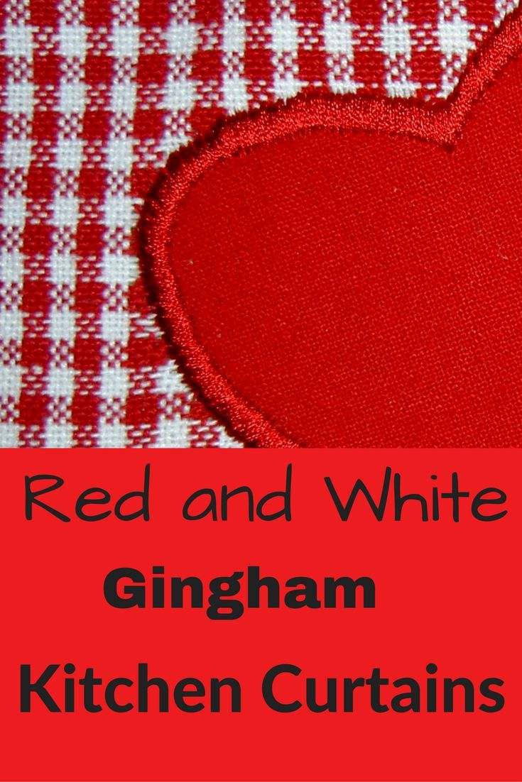 Red and White Gingham Kitchen Curtains