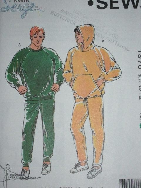 Kwik Sew 1978 Mens Jogging Suits Stretch Knits by paulassewnice, $5.25
