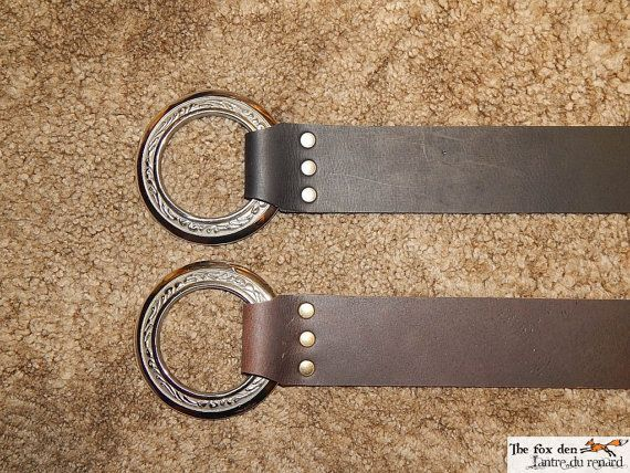 Long belt with a 3'' engraved ring and 2'' wide by lantredurenard