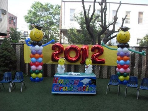 outdoor graduation party decorating ideas | PRE-K GRADUATION  PARTY DECORATIONS #graduationday #graduation #day #stage