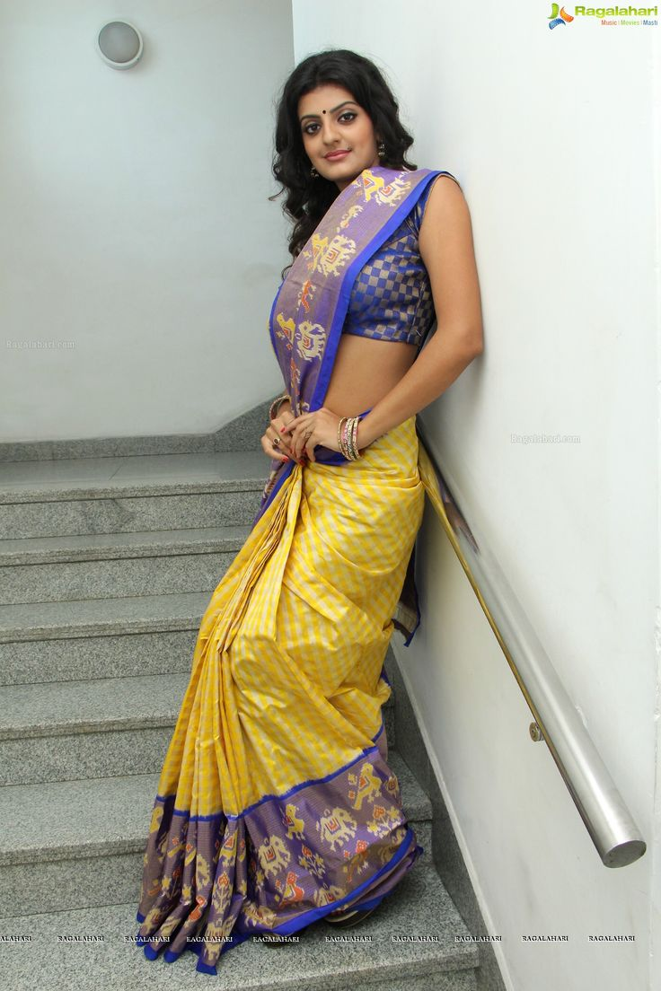 from Deangelo sexy half nude saree