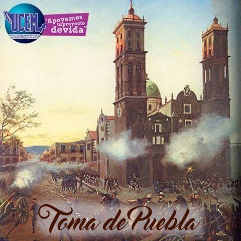 #2Abril Aniversario de la Toma de Puebla por las tropas republicanas de Porfirio Díaz que combatían contra el Imperio de Maximiliano, todo esto en el año de 1867. La Bandera Nacional deberá izarse a toda asta.