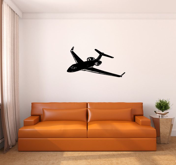 Best Aircraft Wall Decals And Murals Images On Pinterest - How to make vinyl wall decals with silhouette