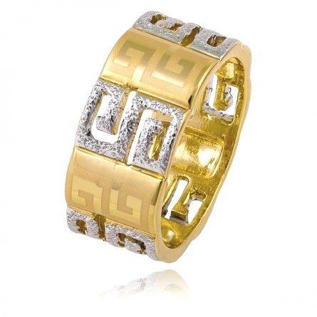 Idealne połączenie srebrnych i złotych elementów tworzy razem elegancką całość.