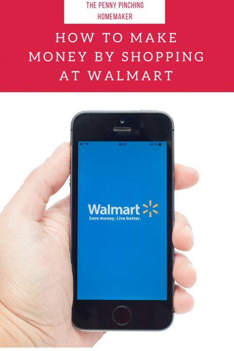 How To Make Money By Shopping At Walmart | https://www.pennypinchinghomemaker.com/make-money-shopping-walmart/