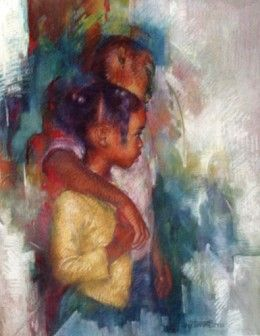 Brenda Joysmith Big Brother Giclee # #Children From The Tapestry II series. Giclee editions are limited to 299 signed and numbered prints w/ 30 artist proofs. Big Brother Giclee
