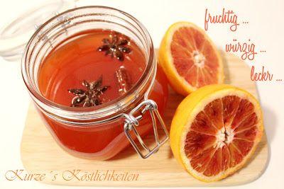 Kurze´s Köstlichkeiten: winterliche Orangenmarmelade mit Vanille, Zimt und Sternanis