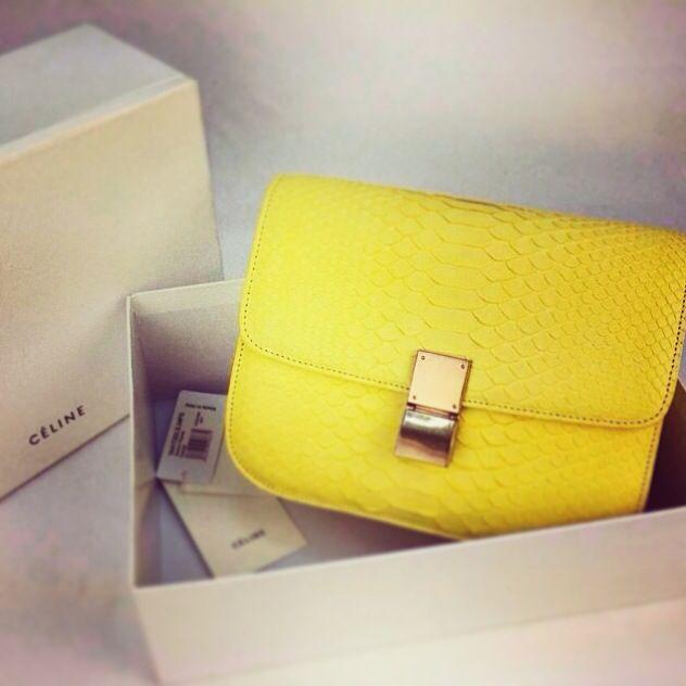 #Celine yellow python bag