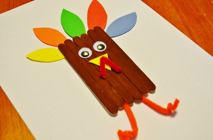 thanksgiving crafts for toddlers   Thanksgiving Turkey Craft Sticks Craft for Kids