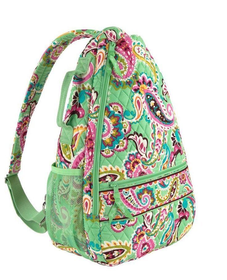 Vera Bradley TENNIS bag. i should get this for a little case instead of my slip case. then, i won't have to haul my [suitcase] 9-racquet case around or my little slip case - this works!
