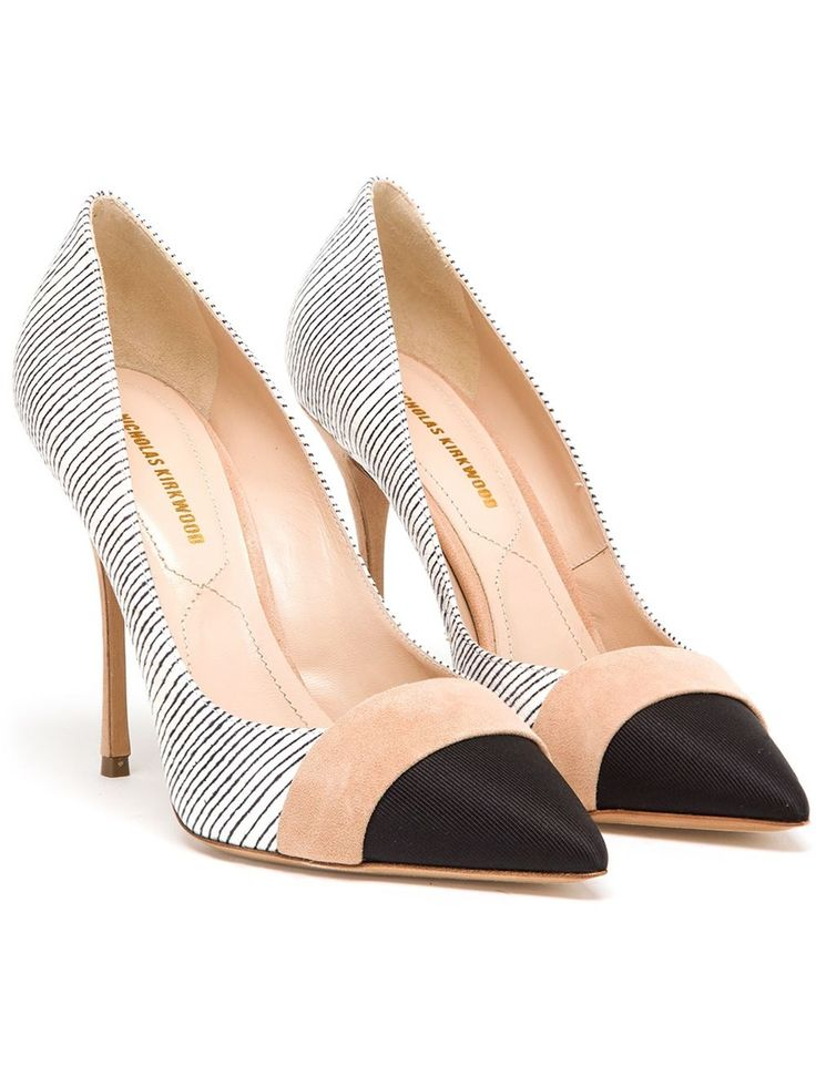 Nicholas Kirkwood Striped Leather Pumps - Browns - Farfetch.com