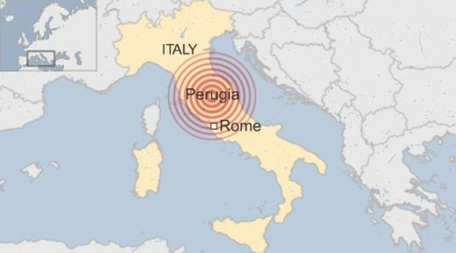 An Earthquake in central Italy 6.2.