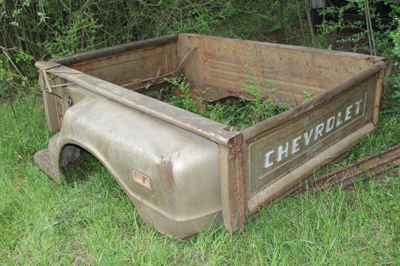 Old Car Parts Chevy Step Side Truck Bed Model Furniture