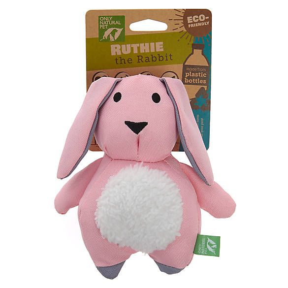 Only Natural Pet Ruthie The Rabbit Dog Toy Plush Squeaker